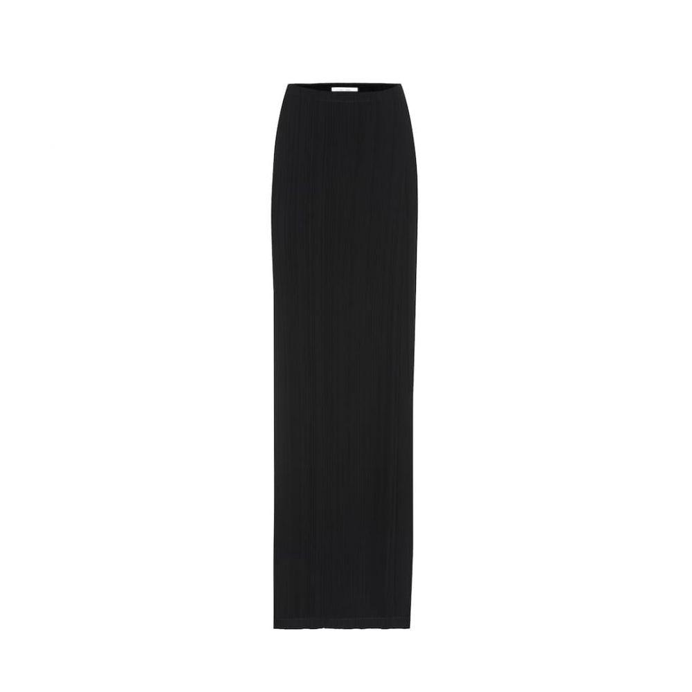 ザ ロウ The Row レディース ロング・マキシ丈スカート スカート【sol pleated crepe maxi skirt】Black