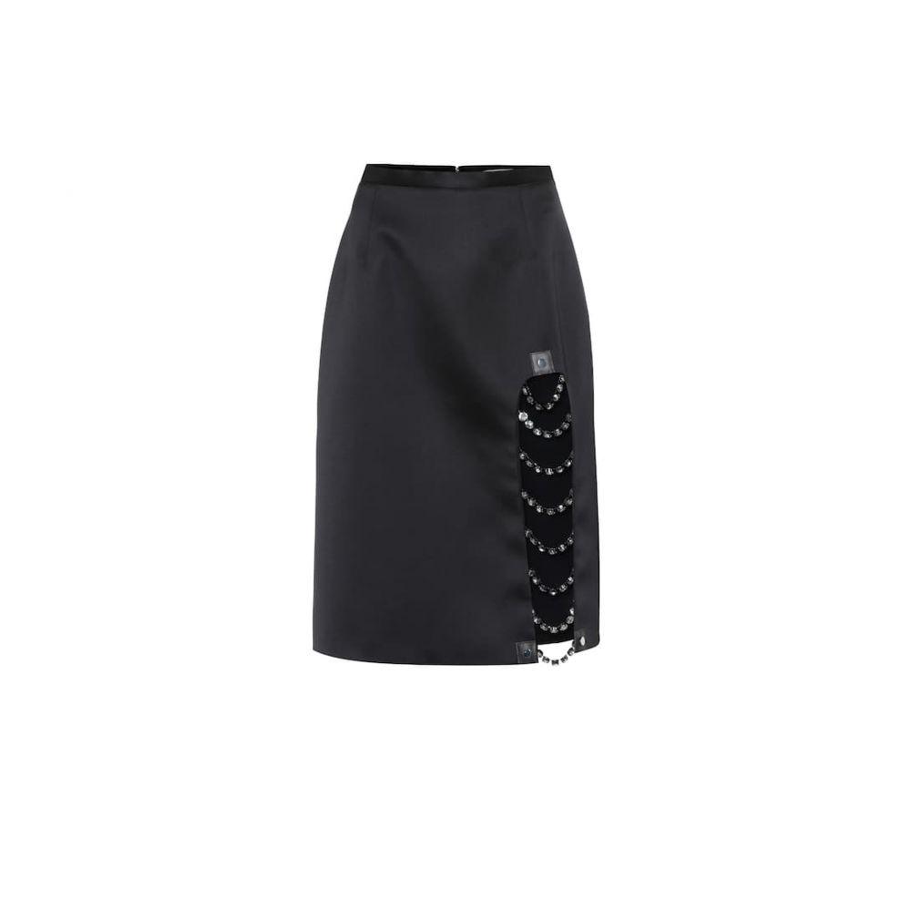 クリストファー ケイン Christopher Kane レディース スカート 【crystal-embellished satin skirt】Black