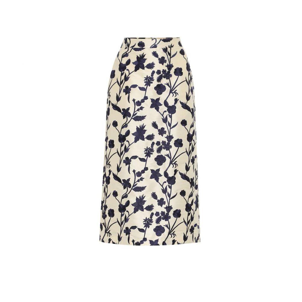 ブロック コレクション Brock Collection レディース ひざ丈スカート スカート【quercini floral-jacquard midi skirt】Natural