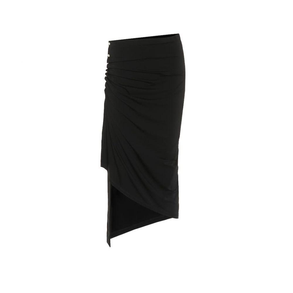 パコラバンヌ Paco Rabanne レディース ひざ丈スカート スカート【jersey midi skirt】Black