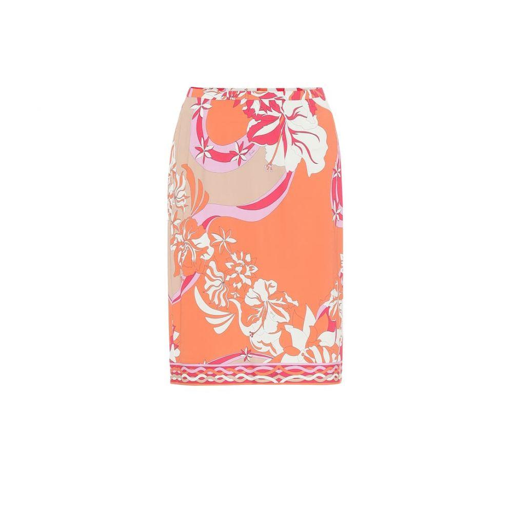 エミリオ プッチ Emilio Pucci レディース ひざ丈スカート スカート【printed jersey midi skirt】Corallo/Beige