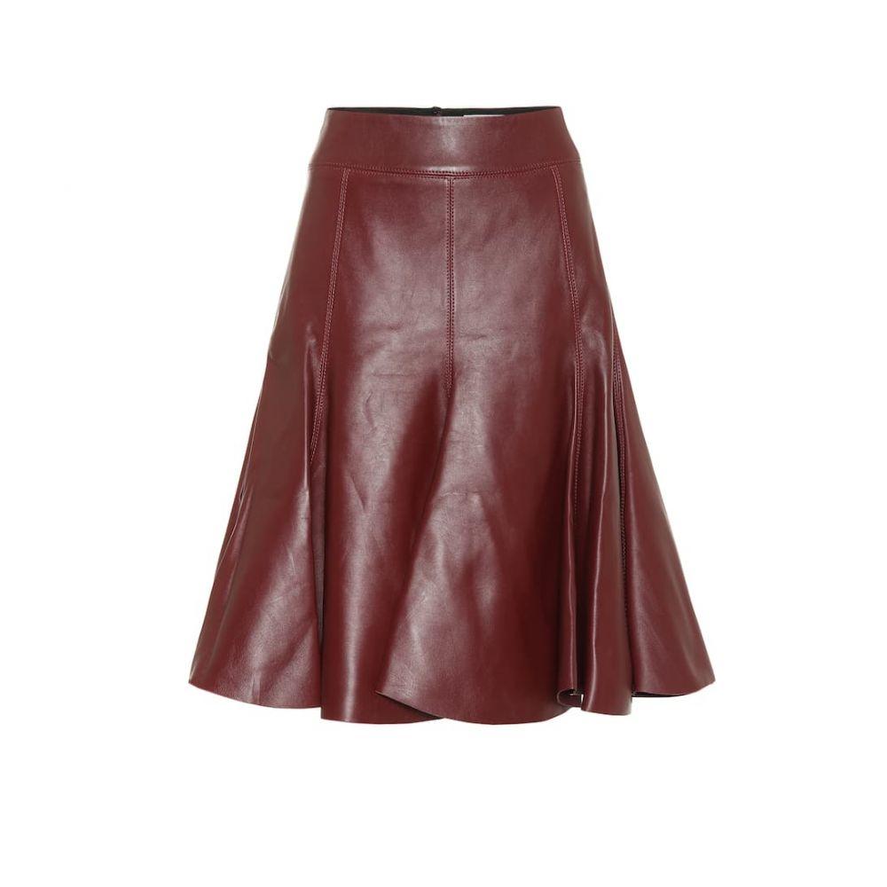 ドロシー シューマッハ Dorothee Schumacher レディース ひざ丈スカート スカート【modern volumes leather midi skirt】Ruby Red