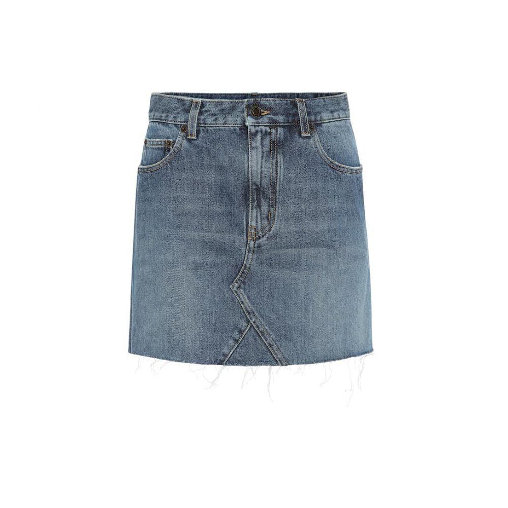イヴ サンローラン Saint Laurent レディース ミニスカート スカート【denim miniskirt】Dusk Blue