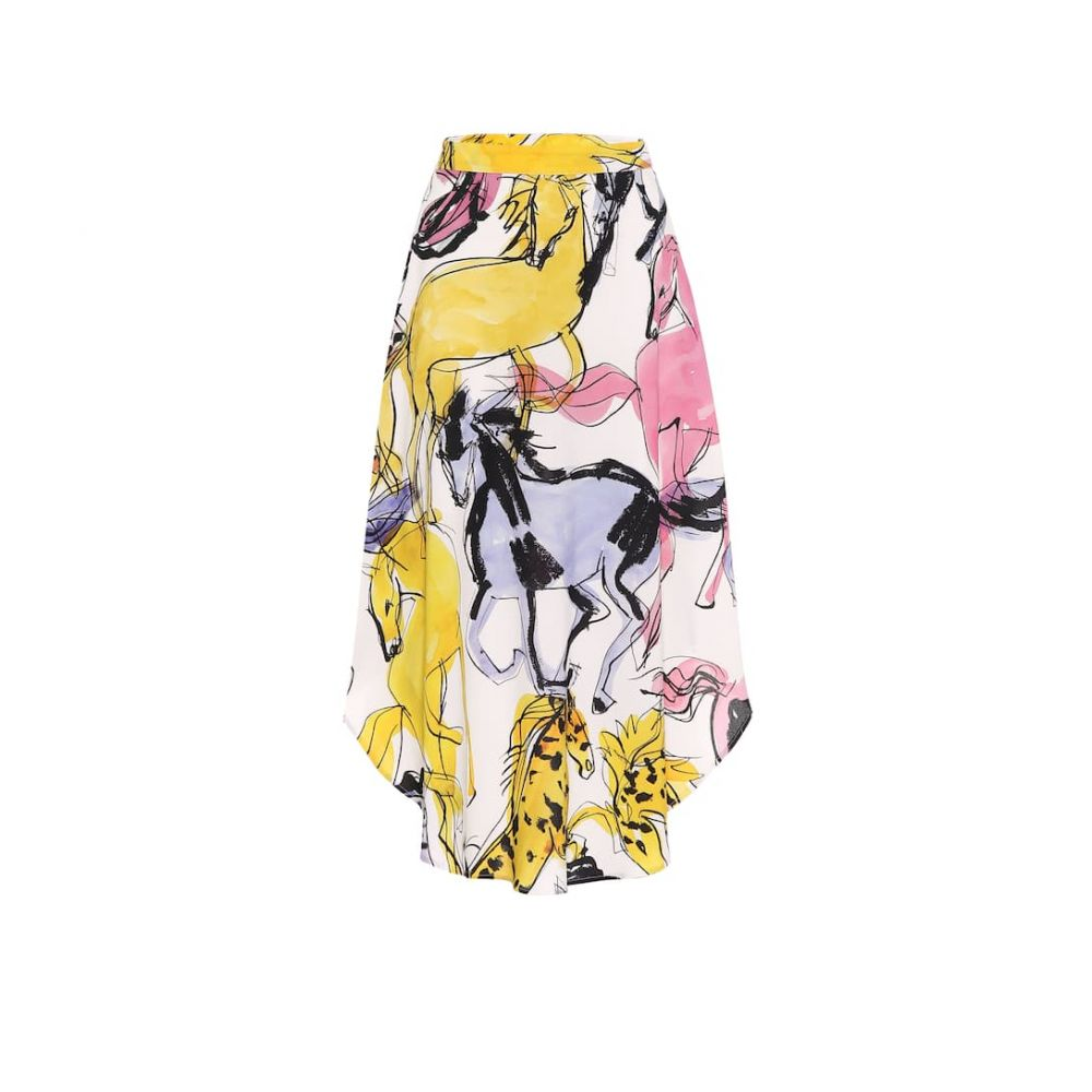 ステラ マッカートニー Stella McCartney レディース ひざ丈スカート スカート【jacey printed crepe midi skirt】Multicolor