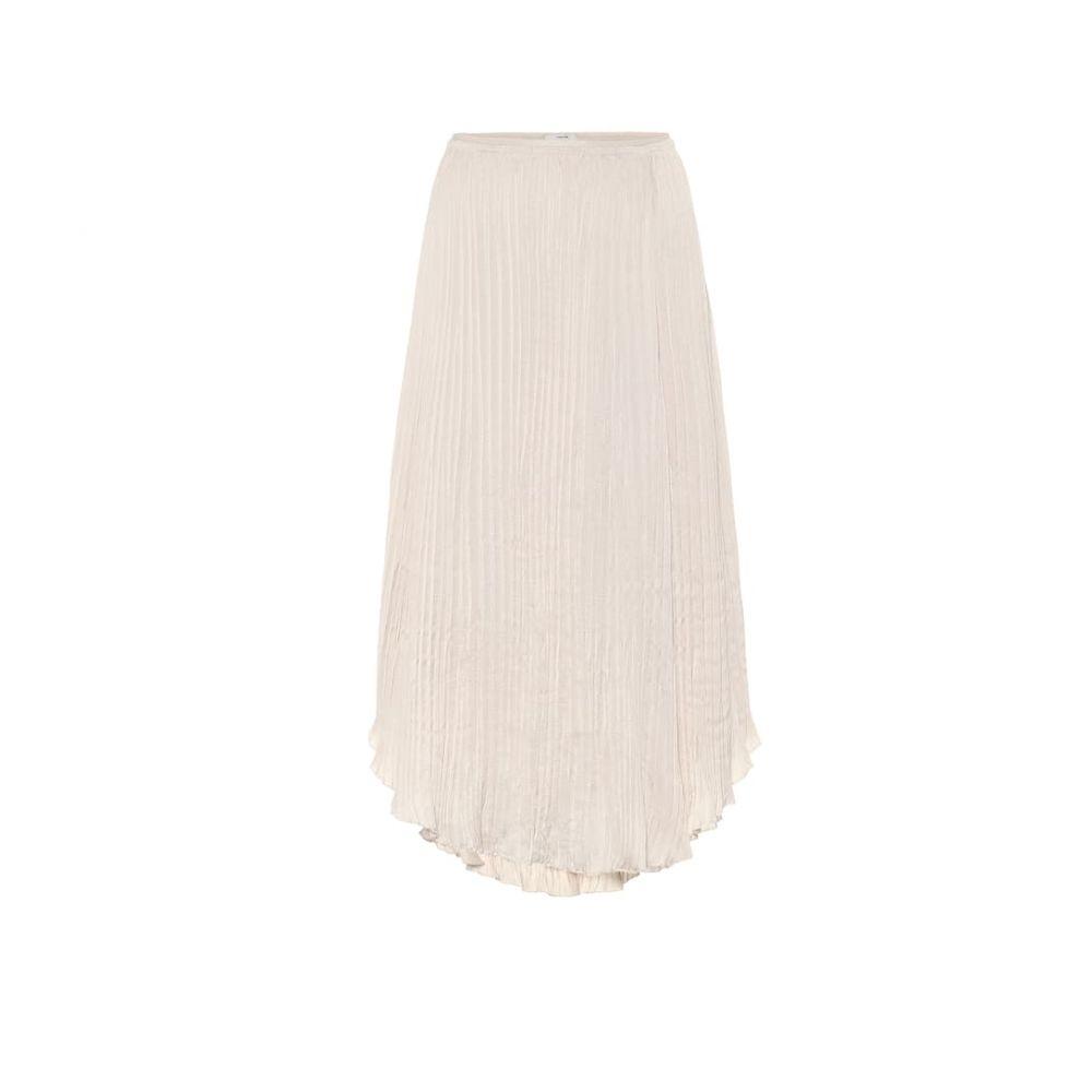 ヴィンス Vince レディース ひざ丈スカート スカート【crushed satin midi skirt】Pale Alder