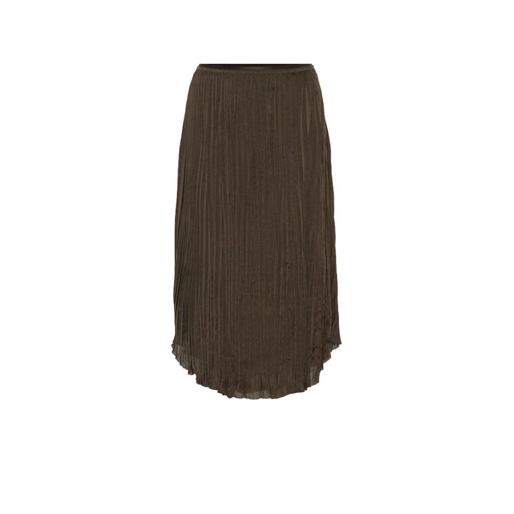 ヴィンス Vince レディース ひざ丈スカート スカート【pleated-crepe skirt】Mineral Pine