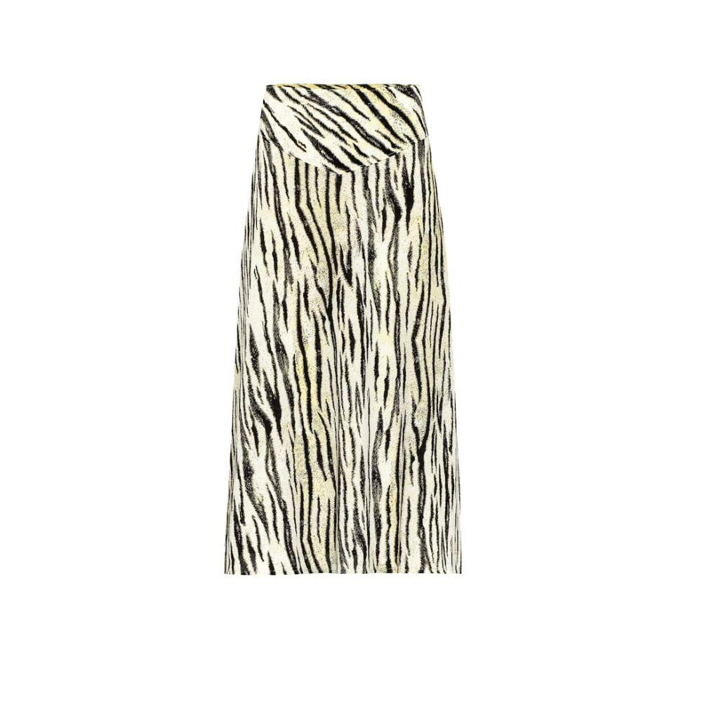 バウム ウンド ヘルガーデン Baum und Pferdgarten レディース ひざ丈スカート スカート【senga tiger-print midi skirt】Yellow Tiger