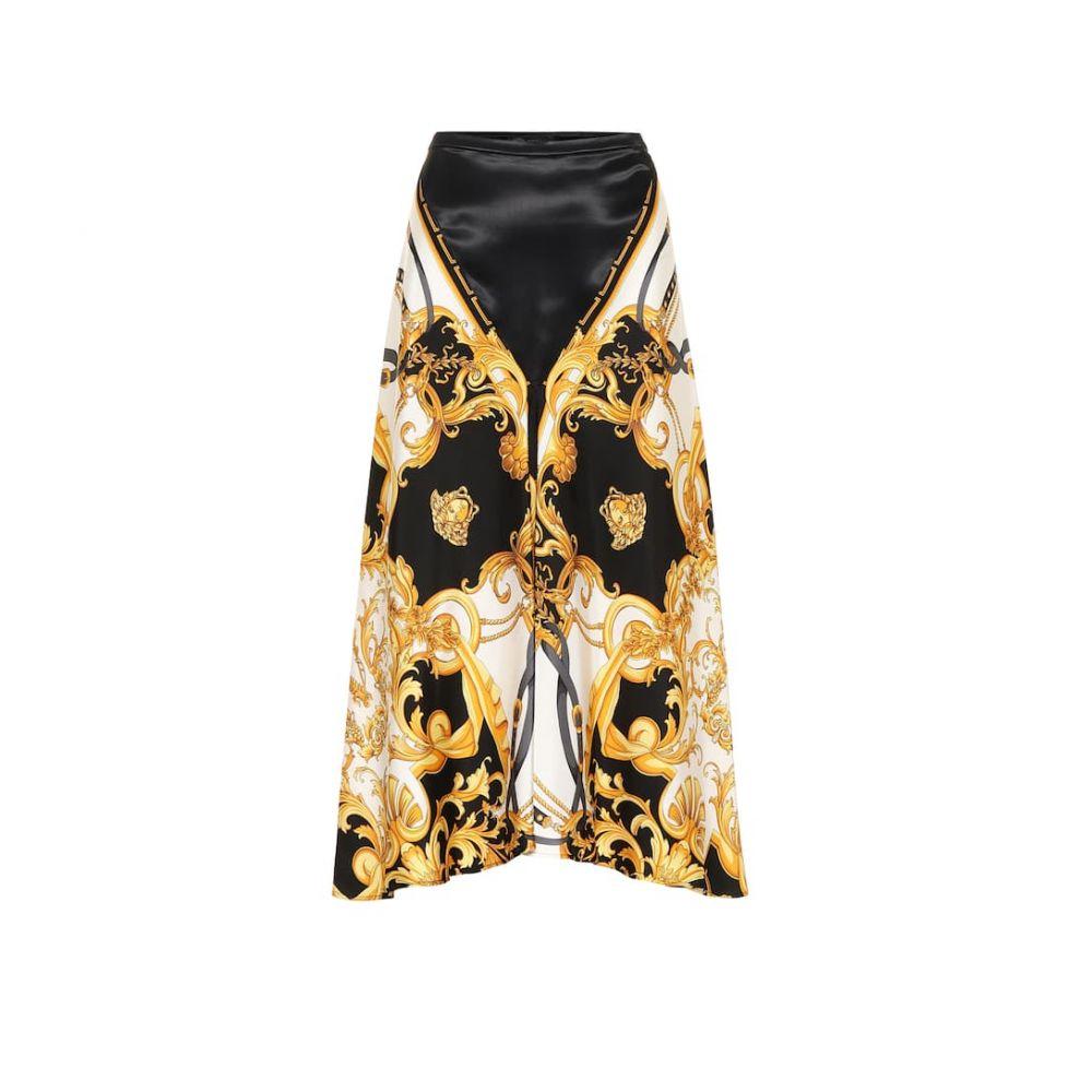ヴェルサーチ Versace レディース ひざ丈スカート スカート【printed silk midi skirt】F. Do Bianco/Stampa