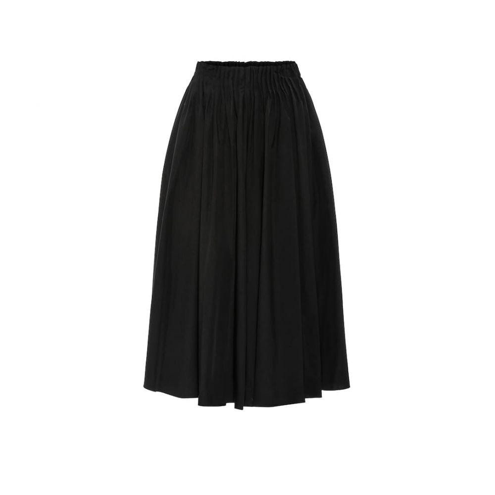 マルニ Marni レディース ひざ丈スカート スカート【high-rise cotton midi skirt】Black