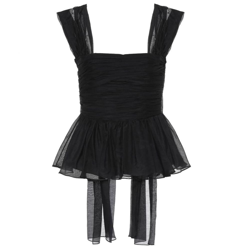 ブロック コレクション Brock Collection レディース トップス 【quadriennale cotton and silk top】Black