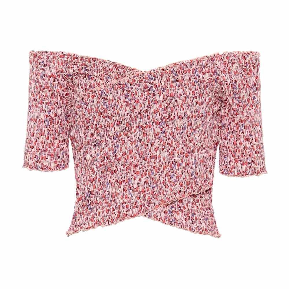 プーペット セント バース Poupette St Barth レディース トップス 【soledad floral smocked top】Pink Bell