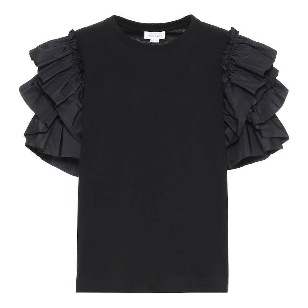 アレキサンダー マックイーン Alexander McQueen レディース トップス 【ruffle-trimmed cotton top】Black