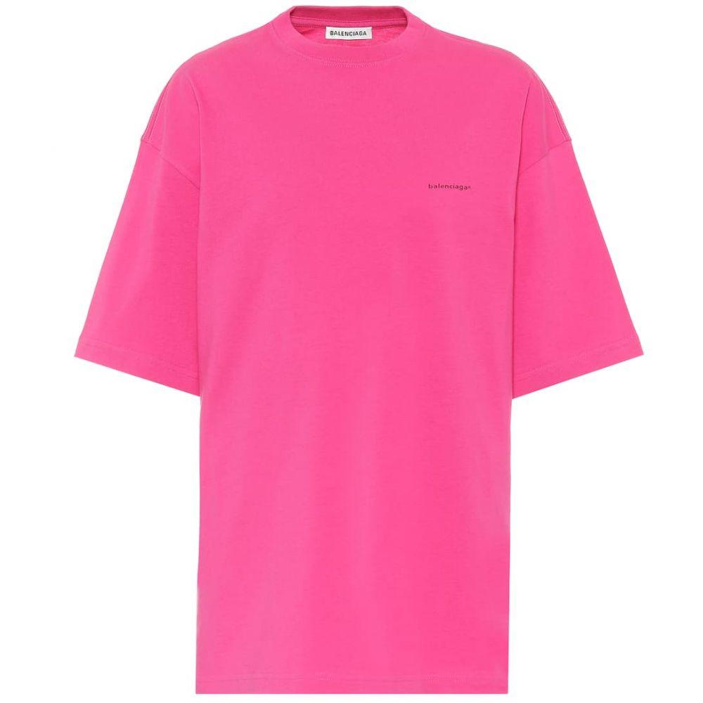 バレンシアガ Balenciaga レディース Tシャツ トップス【copyright cotton t-shirt】Pink