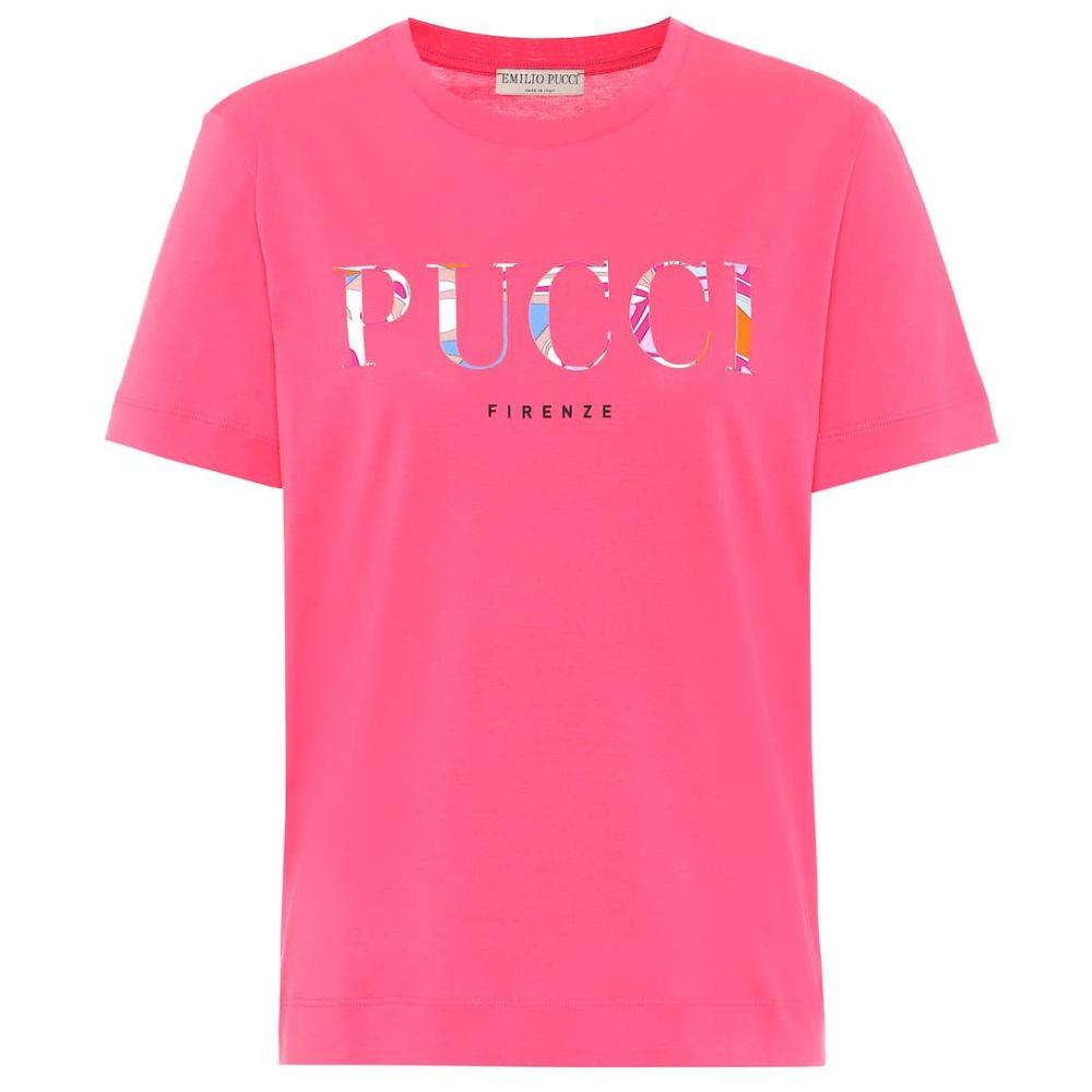 エミリオ プッチ Emilio Pucci レディース Tシャツ トップス【logo cotton-jersey t-shirt】Magenta