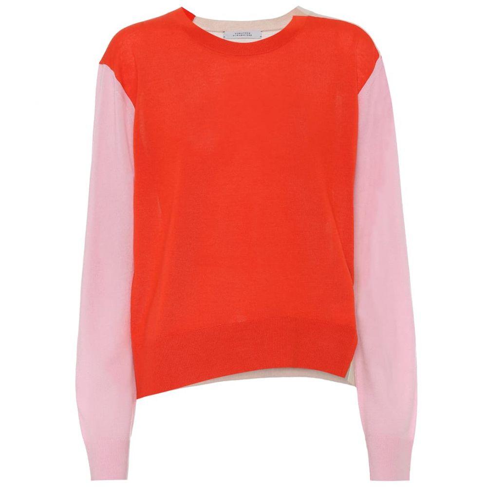 ドロシー シューマッハ Dorothee Schumacher レディース ニット・セーター トップス【colorblocked merino wool sweater】Red & Pink