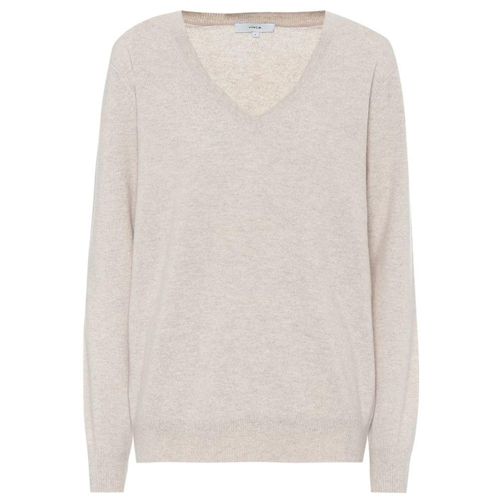ヴィンス Vince レディース ニット・セーター Vネック トップス【v-neck cashmere sweater】H Dove Oat