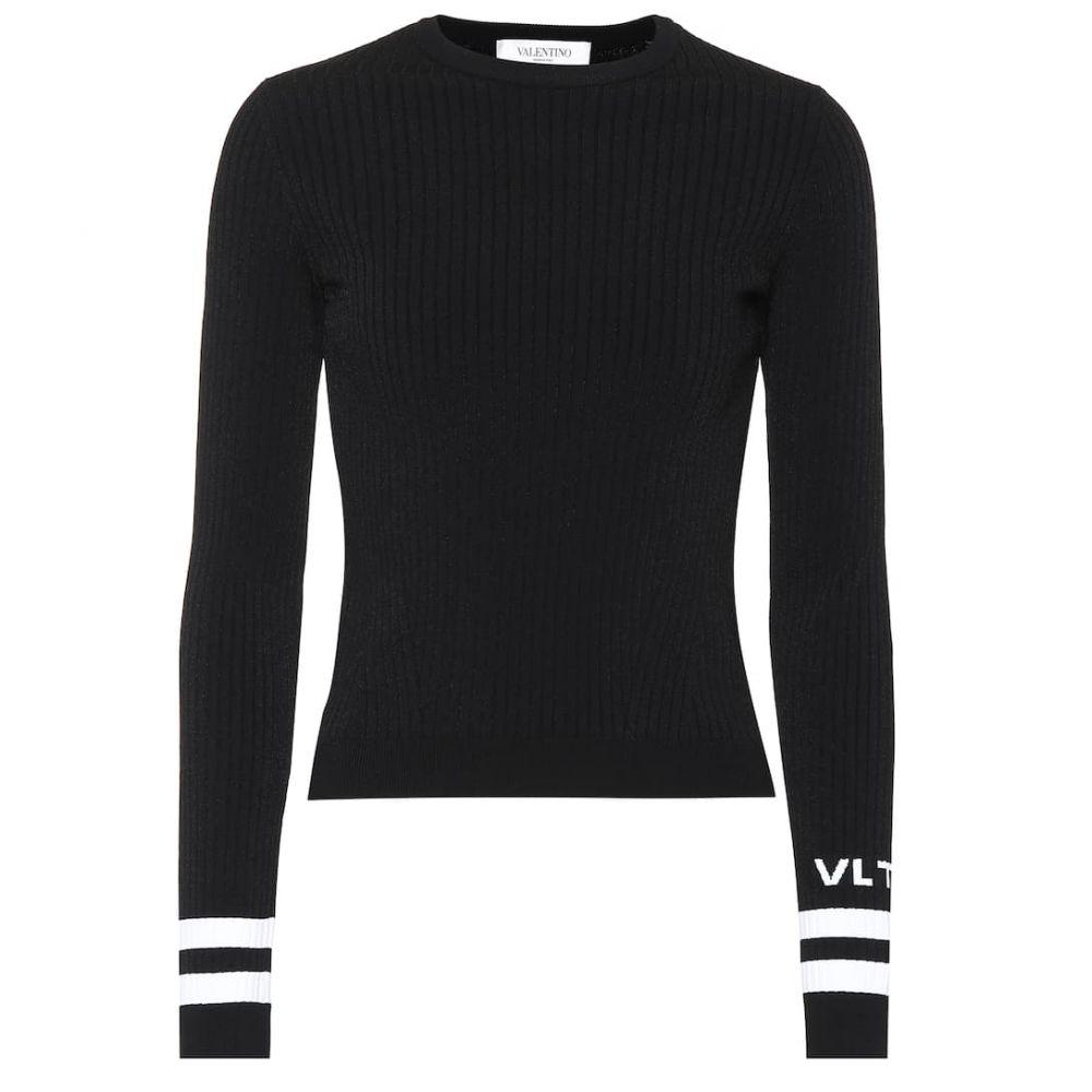 ヴァレンティノ Valentino レディース ニット・セーター トップス【logo ribbed knit sweater】
