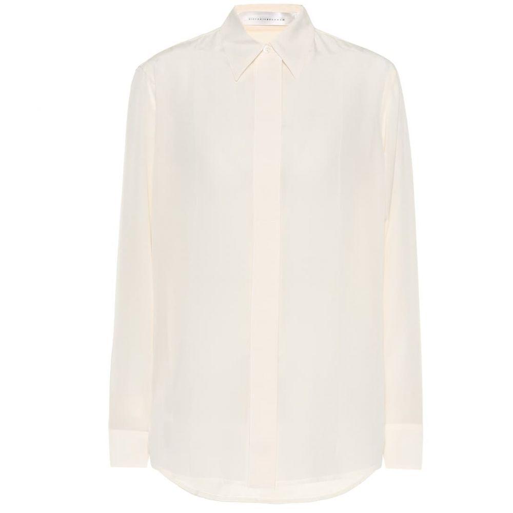 ヴィクトリア ベッカム Victoria Beckham レディース ブラウス・シャツ トップス【silk blouse】Vanilla