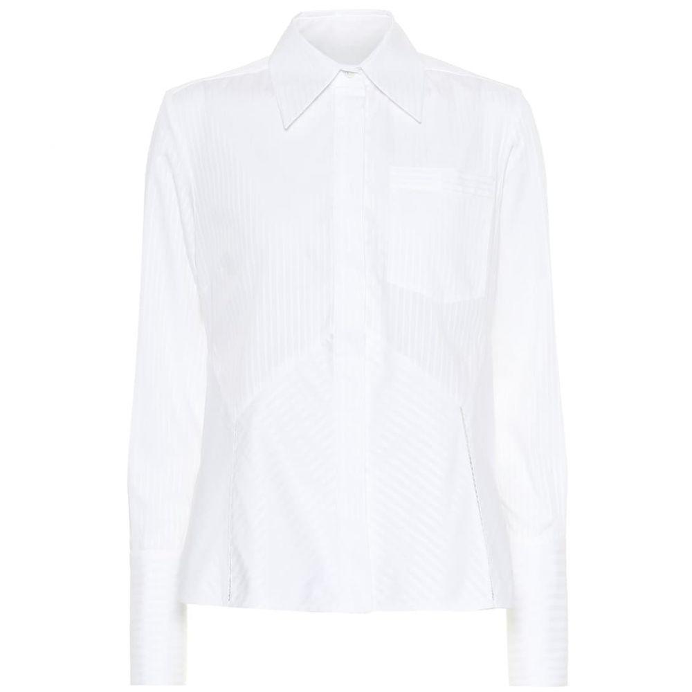 ヴィクトリア ベッカム Victoria Victoria Beckham レディース ブラウス・シャツ トップス【striped cotton shirt】White