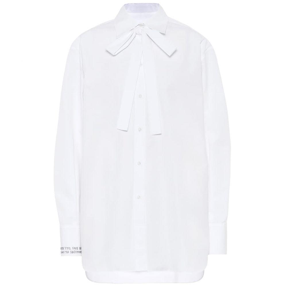 ヴァレンティノ Valentino レディース ブラウス・シャツ トップス【cotton shirt】White
