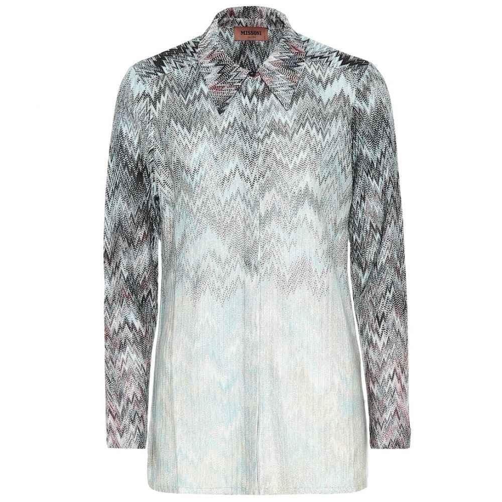 ミッソーニ Missoni レディース ブラウス・シャツ トップス【metallic knit shirt】