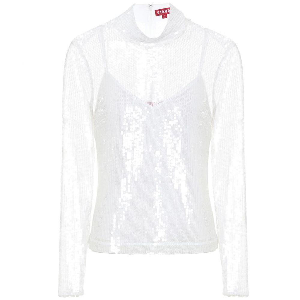 スタウド Staud レディース ブラウス・シャツ トップス【chaka sequined blouse】Clear Sequin