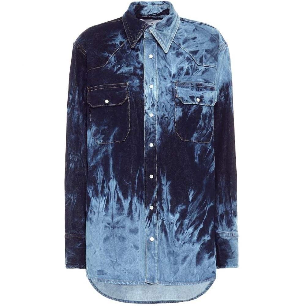 マシュー アダムズ ドーラン Matthew Adams Dolan レディース ブラウス・シャツ デニム トップス【tie-dye denim shirt】Indigo Reverse Dye