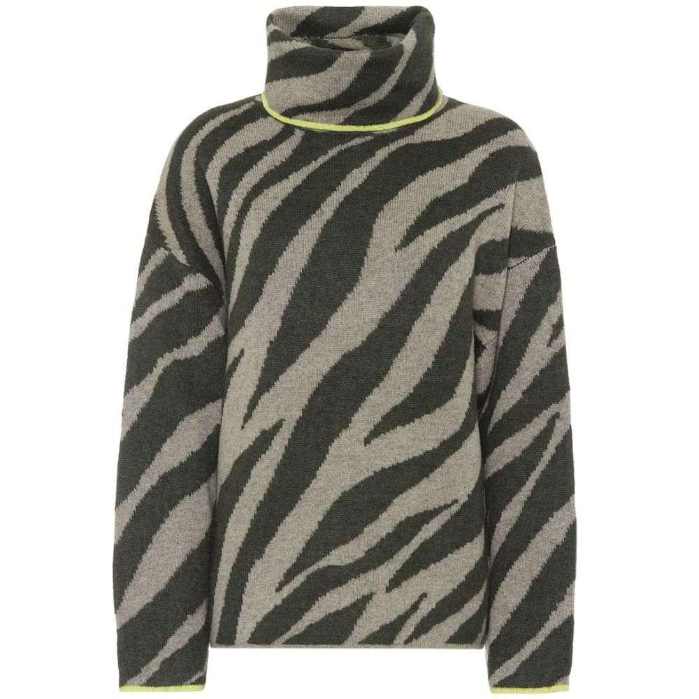 ラグ&ボーン Rag & Bone レディース ニット・セーター トップス【kiki zebra-jacquard sweater】Army