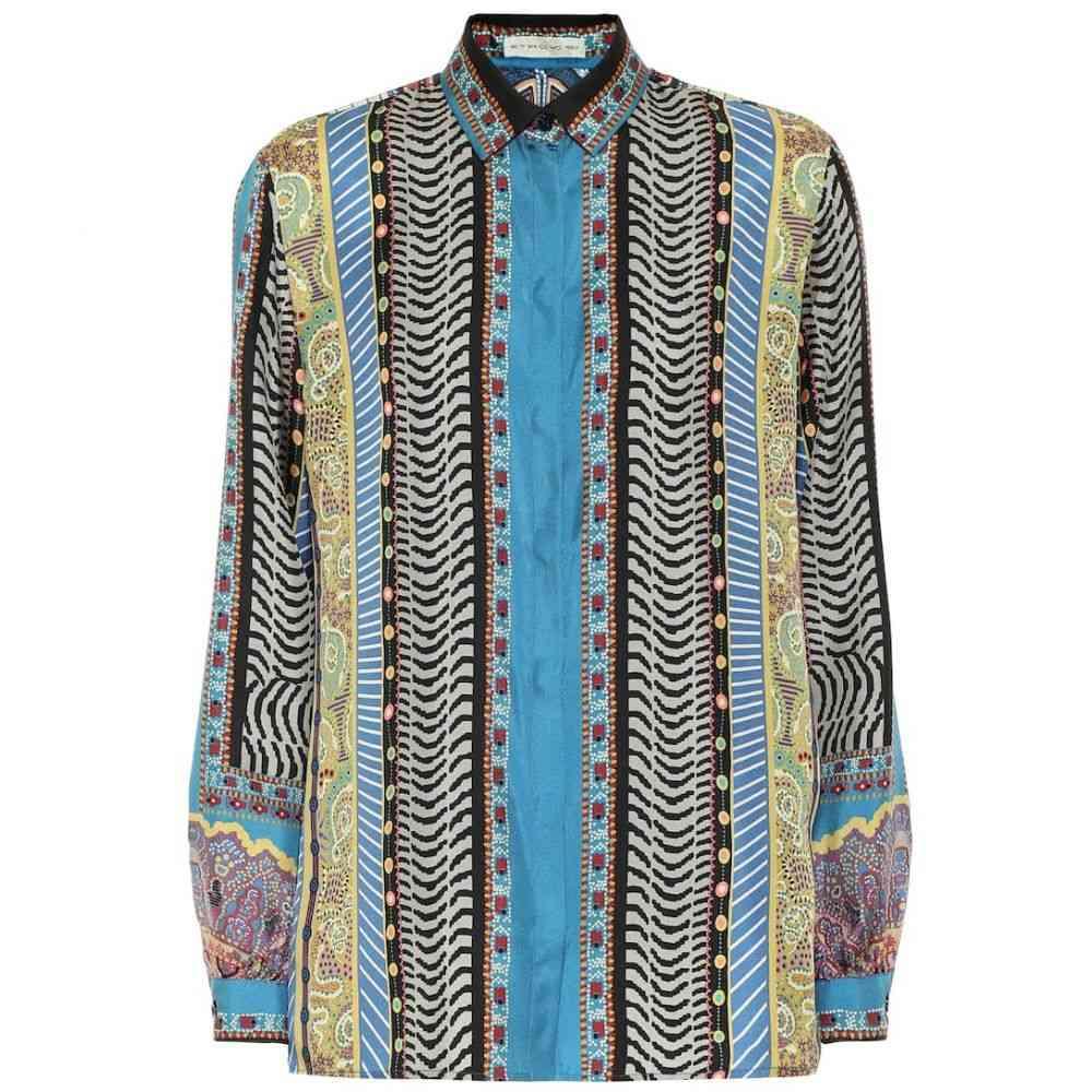 エトロ Etro レディース ブラウス・シャツ トップス【printed silk-twill shirt】