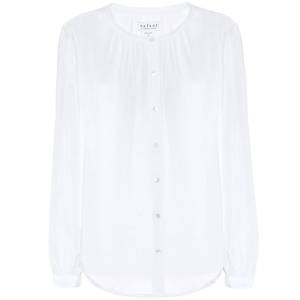 ベルベット グラハム&スペンサー Velvet レディース ブラウス・シャツ トップス【serafina blouse】White