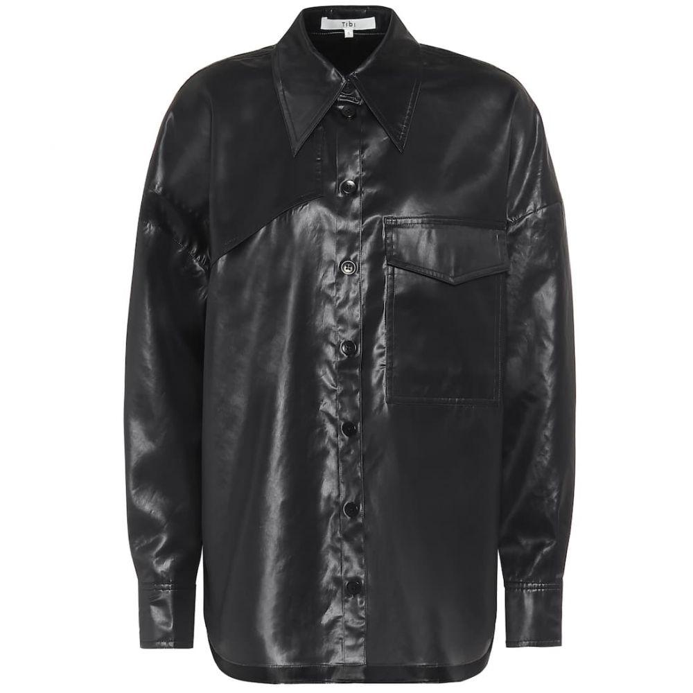 ティビ Tibi レディース ブラウス・シャツ トップス【liquid drape shirt】Dark Navy