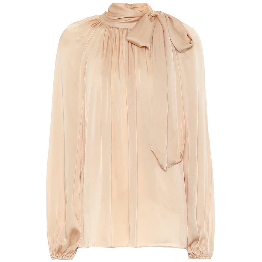 ジマーマン Zimmermann レディース ブラウス・シャツ トップス【silk bow-embellished blouse】Champagne