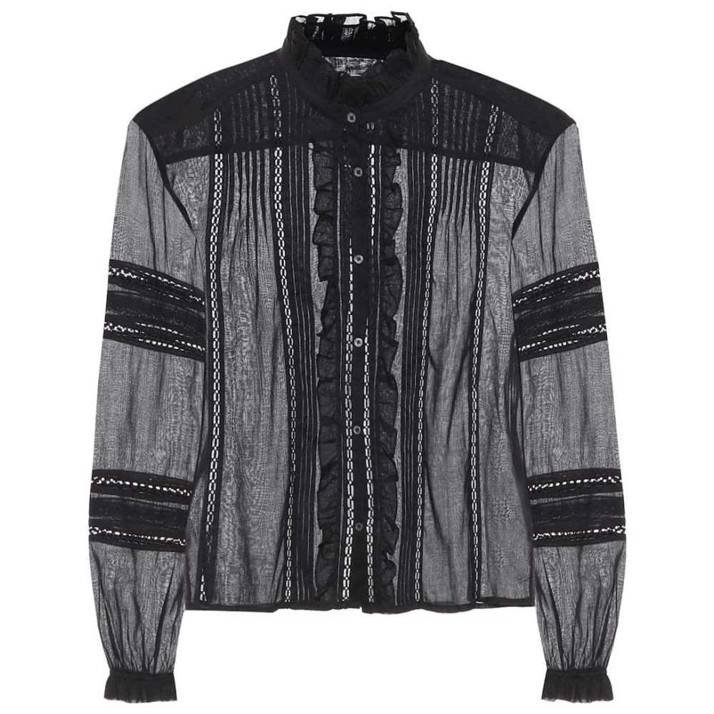 イザベル マラン Isabel Marant, Etoile レディース ブラウス・シャツ トップス【valda cotton blouse】Black