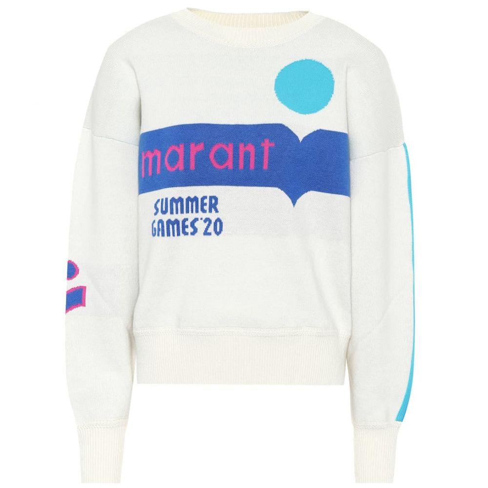 イザベル マラン Isabel Marant, Etoile レディース ニット・セーター トップス【kleden logo cotton-blend sweater】Blue/Ecru