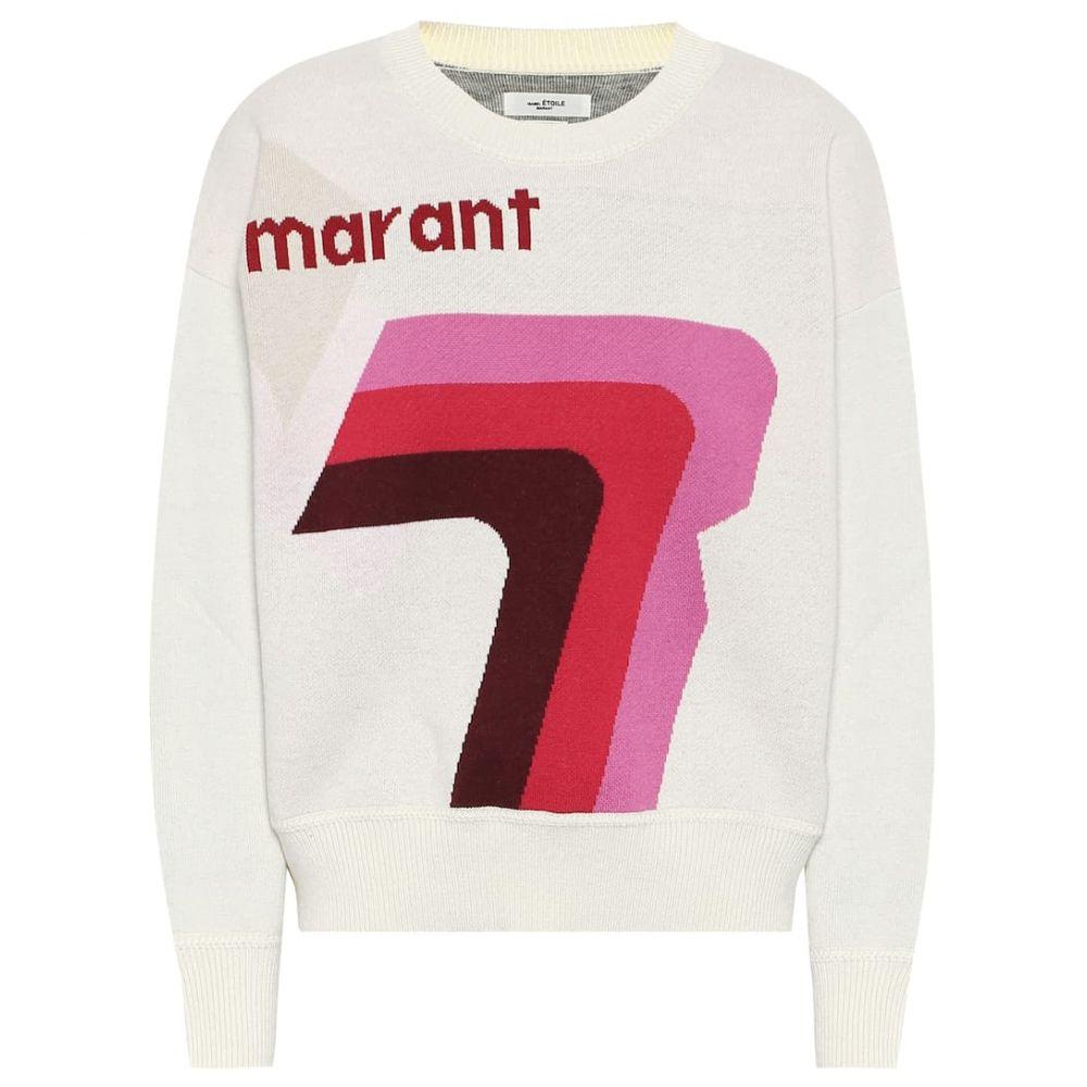 イザベル マラン Isabel Marant, Etoile レディース ニット・セーター トップス【klero logo cotton-blend sweater】Pink/Ecru