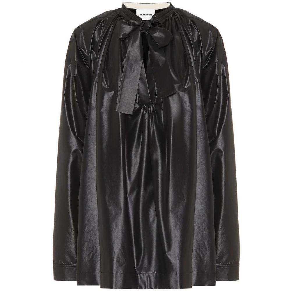 ジル サンダー Jil Sander レディース ブラウス・シャツ トップス【coated tie-neck blouse】Black