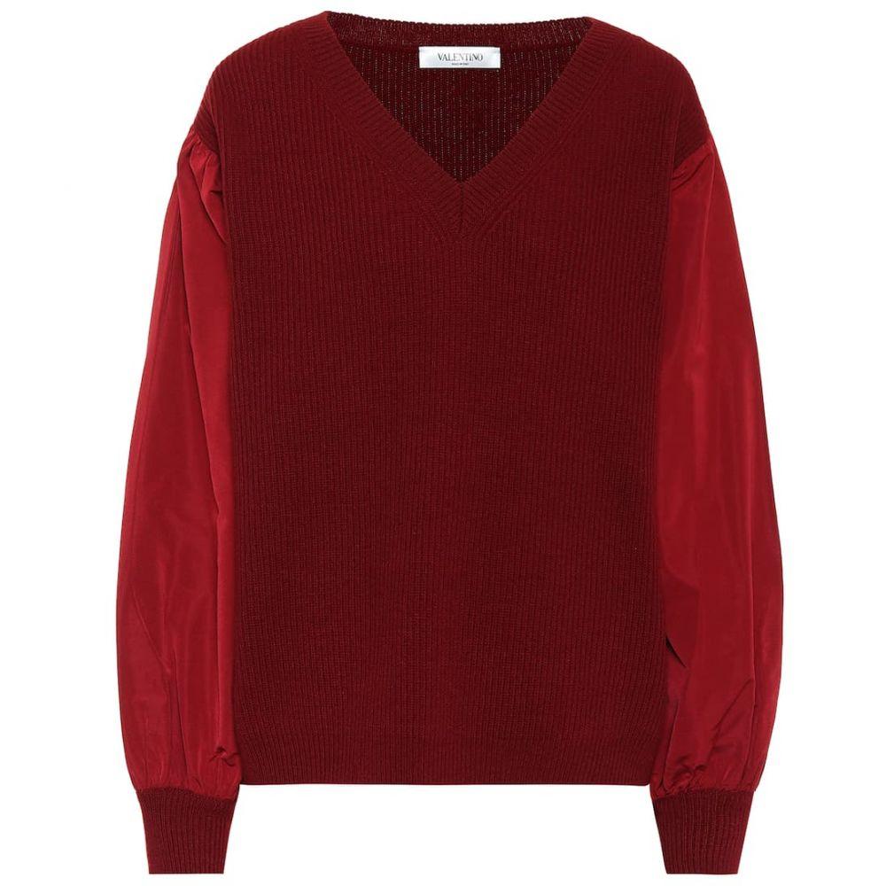 ヴァレンティノ Valentino レディース ニット・セーター トップス【wool and cashmere sweater】Red Persia