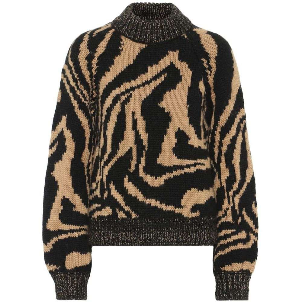 ガニー Ganni レディース ニット・セーター トップス【alpaca and wool-blend sweater】Black