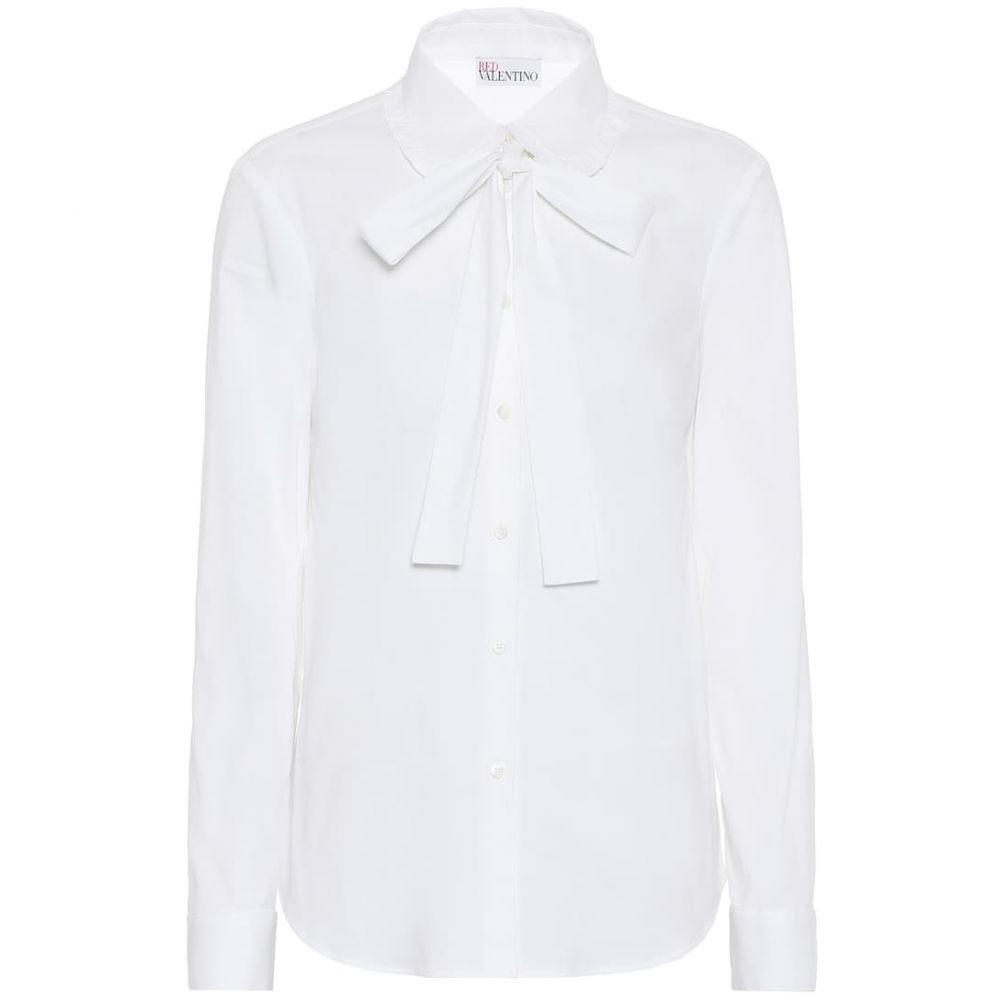 レッド ヴァレンティノ REDValentino レディース ブラウス・シャツ トップス【cotton-blend blouse】Bianco Ottico