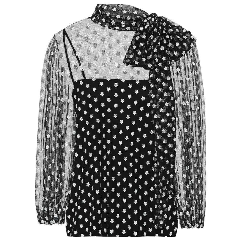 レッド ヴァレンティノ REDValentino レディース ブラウス・シャツ トップス【floral embroidered blouse】Nero