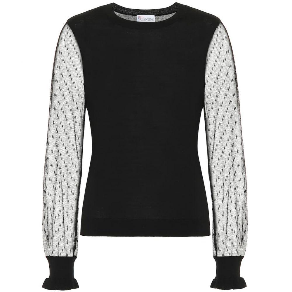 レッド ヴァレンティノ REDValentino レディース ニット・セーター トップス【wool and silk sweater】Nero