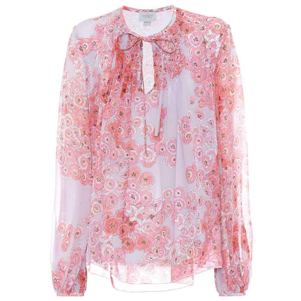 ジャンバティスタ バリ Giambattista Valli レディース ブラウス・シャツ トップス【printed silk blouse】Dust Blue-Fleurs