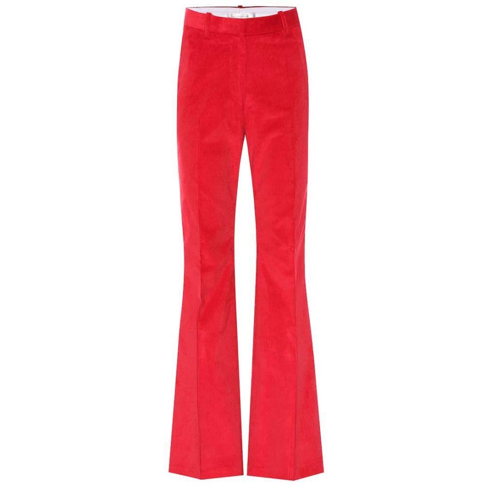 ヴィクトリア ベッカム Victoria Beckham レディース ボトムス・パンツ 【high-rise corduroy flared pants】Red