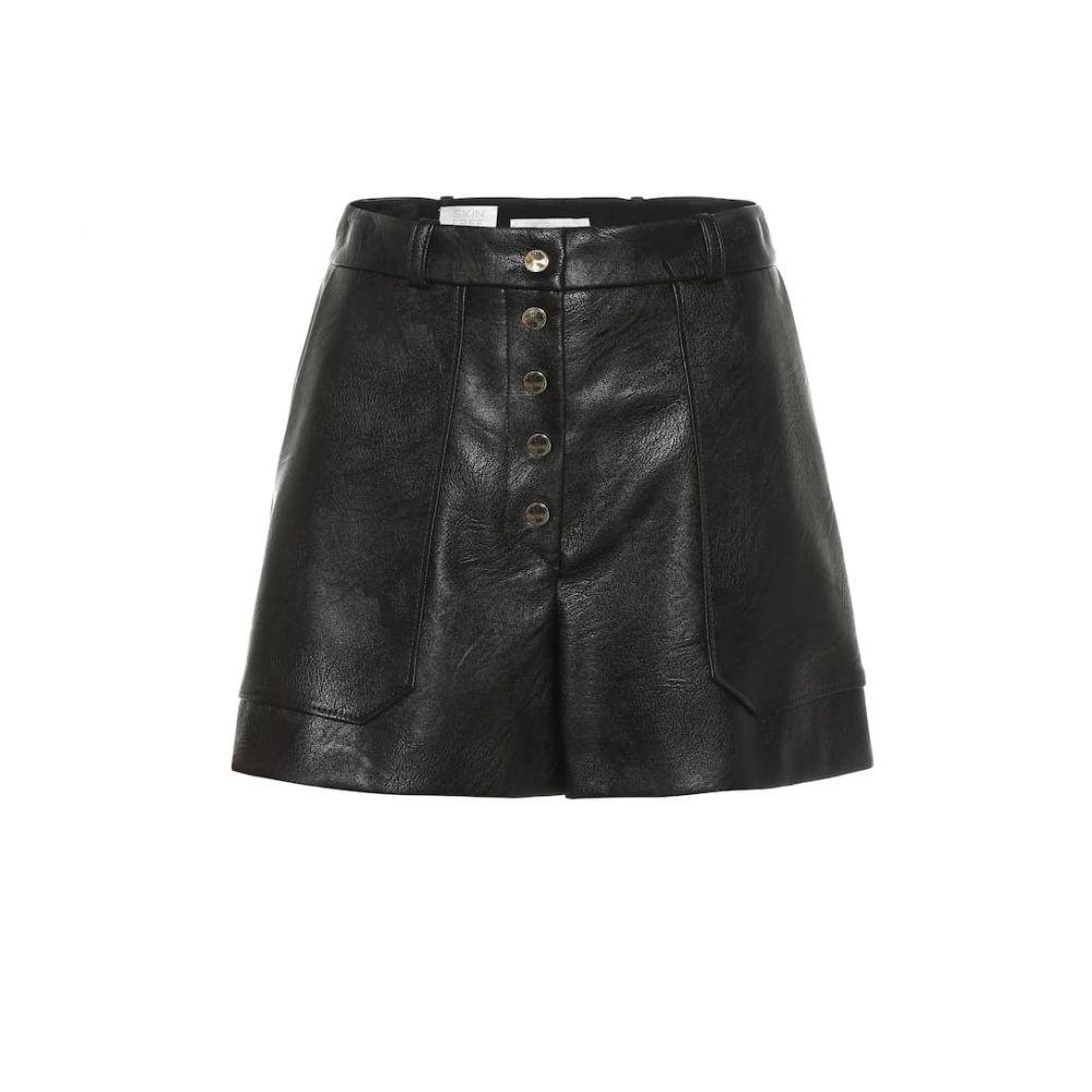 ステラ マッカートニー Stella McCartney レディース ショートパンツ ボトムス・パンツ【faux leather high-rise shorts】Black
