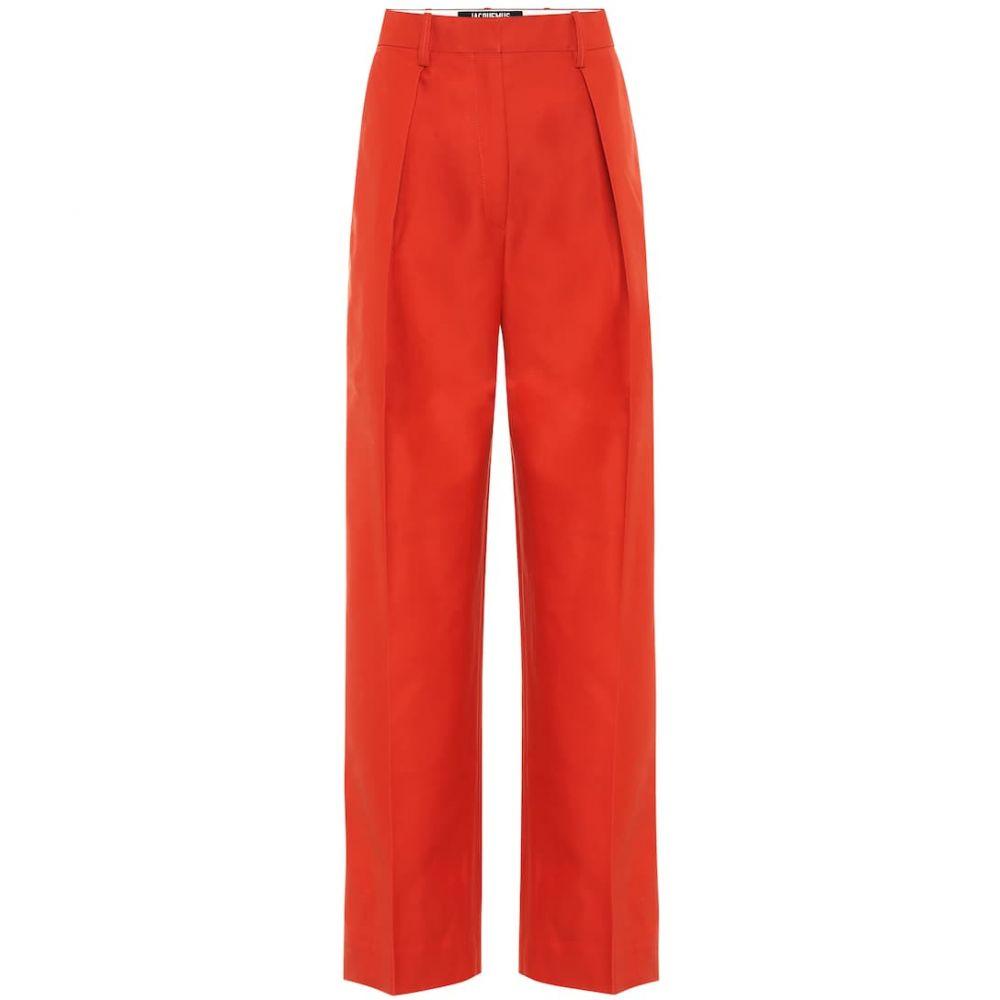 ジャックムス 今ダケ送料無料 レディース ボトムス パンツ その他ボトムス サイズ交換無料 Jacquemus 激安通販専門店 Red carini wide-leg Brick pants cotton-blend