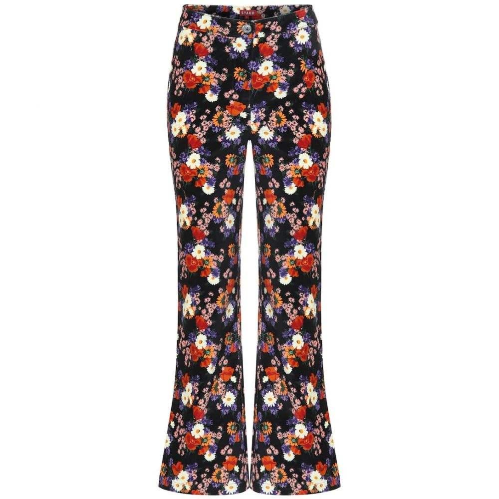 スタウド Staud レディース ボトムス・パンツ 【austin floral cotton pants】Black Floral