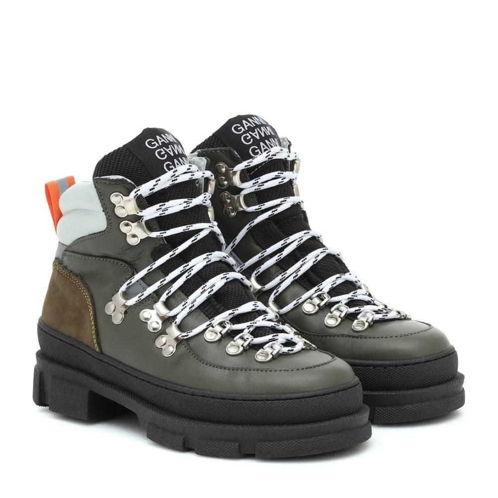 ガニー Ganni レディース ハイキング・登山 ショートブーツ ブーツ シューズ・靴【sporty hiking leather ankle boots】Kalamata
