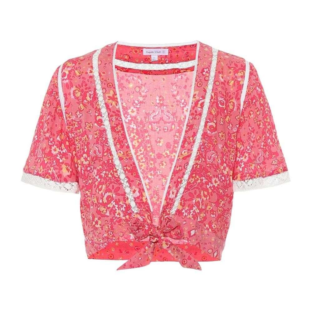 プーペット セント バース Poupette St Barth レディース ベアトップ・チューブトップ・クロップド トップス【jena paisley-print crop top】Pink Paisley