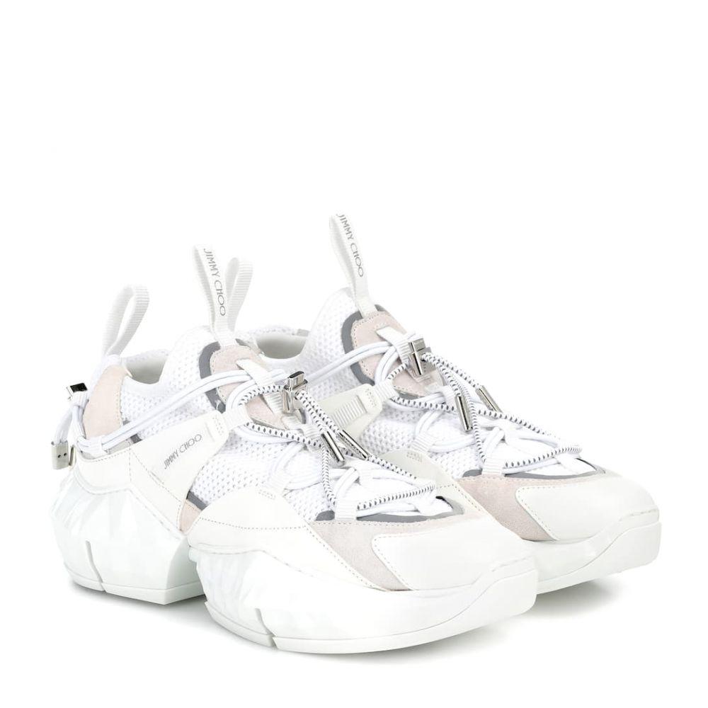 ジミー チュウ Jimmy Choo レディース ハイキング・登山 スニーカー シューズ・靴【diamond trail mesh sneakers】Optical Whitie