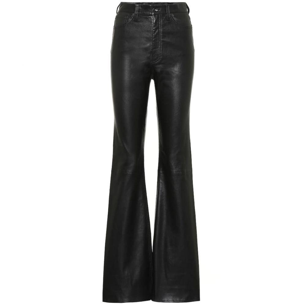 ラグ&ボーン Rag & Bone レディース ボトムス・パンツ レザーパンツ【jane high-rise flared leather pants】Blk